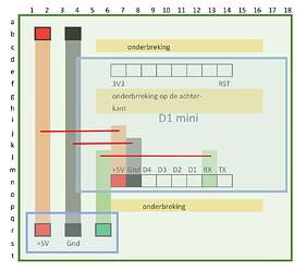 D1 Mini Circuit layout