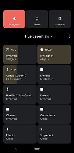 Device controls screenshot 1